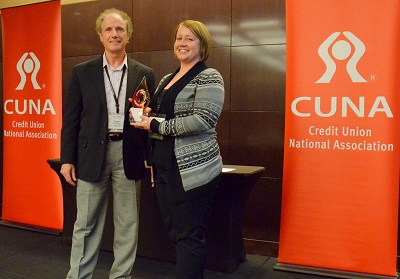 Roger Heacock, CUNA Board Member and Black Hills Federal Credit Union CEO, with Shawna Orona, Southwest 66 Credit Union CFO