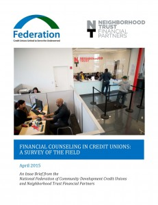 Financial Counseling in Credit Unions Issue Brief Cover